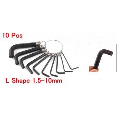 Шестигранники 10 Pcs L Shape 1.5-10mm