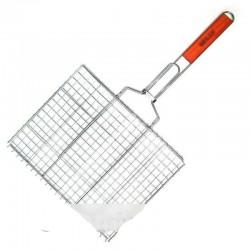 Решетка барбекю двойная плоская, для гриля, размеры 55х27х24