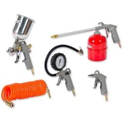 Набор пневмоинструмента, к/р с нижним бачком (5 предметов)