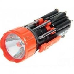 Восемь мини отверток с фонариком CJ-6585