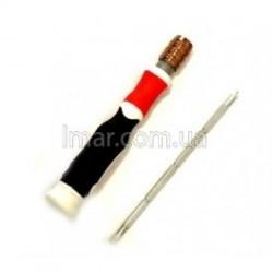 Отвертка резиновая с фиксатором тоненькая