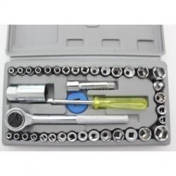 """Комбинация 40 шт Набор торцевых ключей (1/4 """"и 3/8""""), набора комбинаций, Socket Set"""