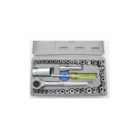 """Комбінація 40 шт Набір торцевих ключів (1/4 """"і 3/8""""), набору комбінацій, Socket Set"""