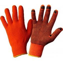 Купить перчатки вязанные с ПВХ точкой