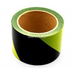 Лента сигнальная желто-черная оптом 100 м