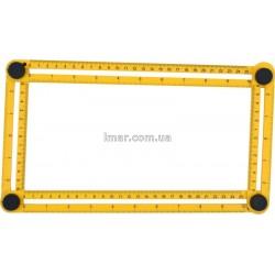 """Лінійка-шаблон для розмітки 310 * 175 * 25мм """"Vorel"""""""