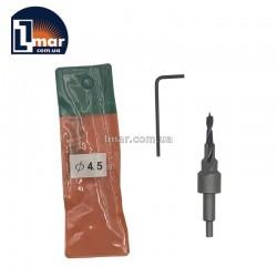 Сверло с зенкером 4.5 мм (для конфирматоров)