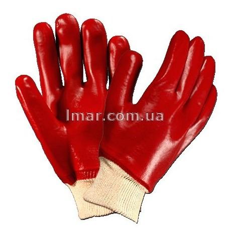 Рукавички з ПВХ червоні з гумкою