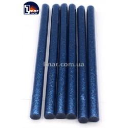 Силиконовый клей для пистолета с блестками 11 мм (синий цвет)