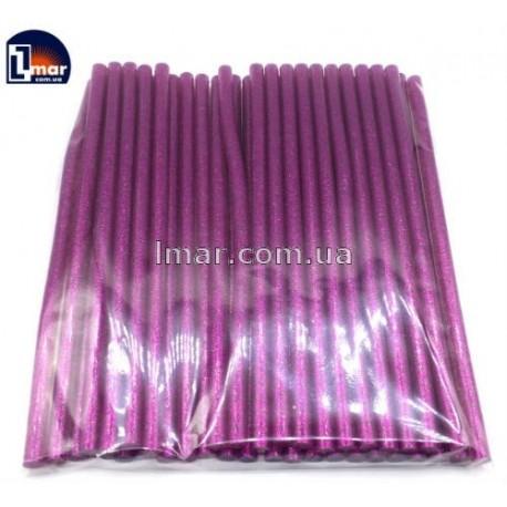 Силиконовый клей для пистолета с блестками 7 мм (розовый цвет)