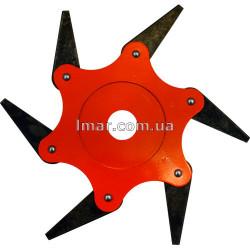 Нож сегментный 6 лезвий для газонокосилки мотокосы триммера