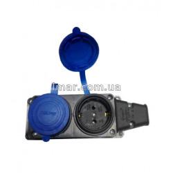 Колодка 2-я TEMPO КАУЧУК з синіми заглушками