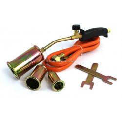 Газовая горелка с 3 наконечниками и шлангом