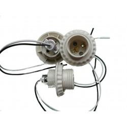 Патрон керамічний підвісний - для лампи E27 (з проводами)