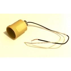 Патрон керамический подвесной - для лампы E27 (с проводами)