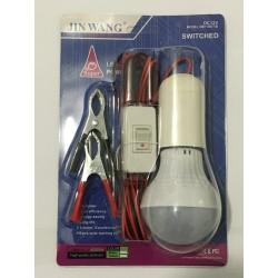 Світлодіодна Лампа DC12V з проводу вимикачем і з тримачем 5 ват