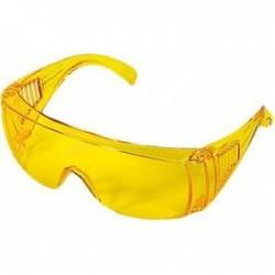 Очки защитные открытого типа Сибртех, желтые, ударопрочный поликарбонат, бок.и верх.защита