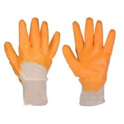 Перчатка рабочая х/б с нитриловым покрытием размер 10 оранжевойатка рабочая х/б с нитриловым покрытием размер 10 оранживой