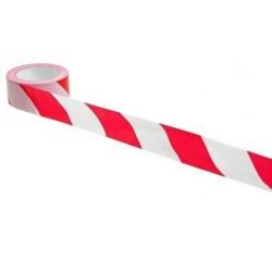 Стрічка сигнальна біло-червона