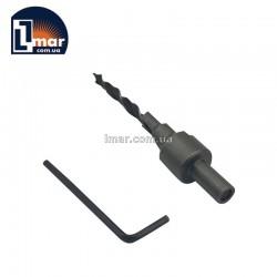 Свердло з зенкером 5 мм для конфірматоров 7х70 мм