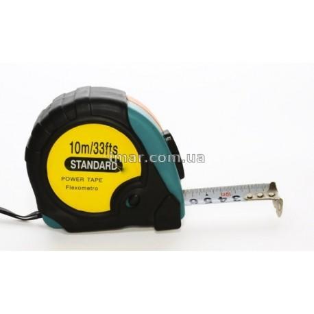 Рулетка измерительная  10 m распродажа(рулетка standard без магнита 10)