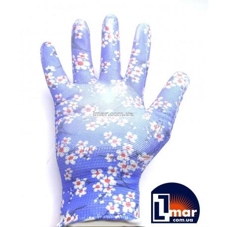 Перчатки супер садовые с нитриловым три цвета