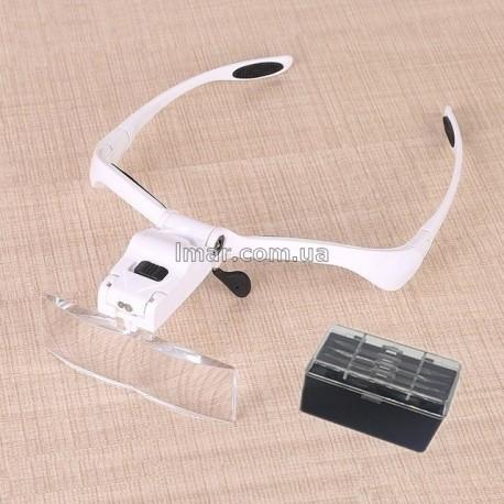 Лупа, Бинокуляр, очки бинокулярные со светодиодной подсветкой 9892BP