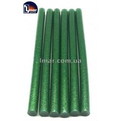 Силіконовий клей для пістолета з блискітками 11 мм (зеленый цвет)