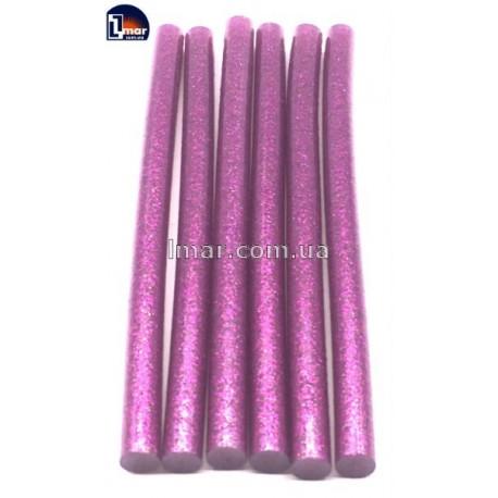 Силиконовый клей для пистолета с блестками 11 мм (розовый цвет)