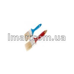 Кисть флейцевая с пластмассовой ручкой синей и красной 4 (100мм)