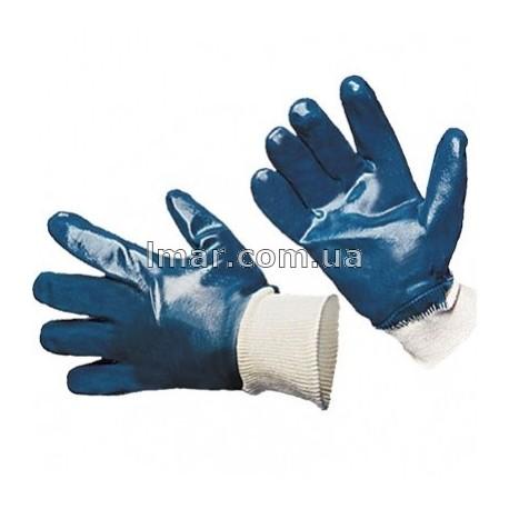 Перчатки нитриловые синие с резинкой