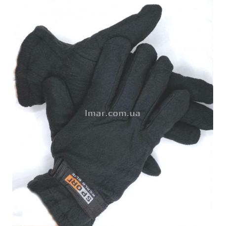 Защитные перчатки трикотажные, утепленные вкладкой