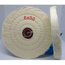Круг полировальный муслиновый 150х10х6 белый