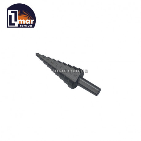 Сверло многоступенчатое с трехгранным хвостовиком Lmar HSS 4-20мм
