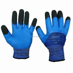 Перчатки защитные латексные синие