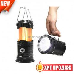 Світлодіодний ліхтар лампа для кемпінгу XF-5808 з ефектом полум'я