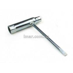 Ключ свічковий до бензопили і мотокоси 13х19 з викруткою