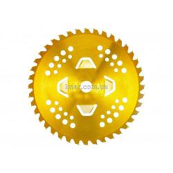 Диск к триммеру 4 лепестка, 255мм 40 зубьев (золотой цвет)