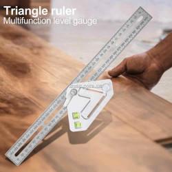 Метричний кутник для столярів Common з рівнем (будівельна кутова лінійка)